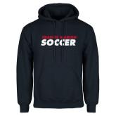 Navy Fleece Hoodie-Soccer Stacked