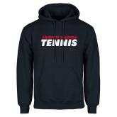 Navy Fleece Hoodie-Tennis Stacked