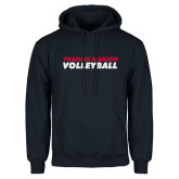 Navy Fleece Hoodie-Volleyball Stacked