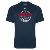 Under Armour Navy Tech Tee-Basketball Arched FM