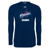 Under Armour Navy Long Sleeve Tech Tee-Grandpa