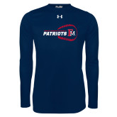 Under Armour Navy Long Sleeve Tech Tee-Baseball on Right