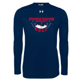 Under Armour Navy Long Sleeve Tech Tee-Golf With Stars