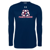 Under Armour Navy Long Sleeve Tech Tee-Soccer Geometric Ball FM