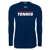 Under Armour Navy Long Sleeve Tech Tee-Tennis Stacked