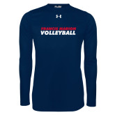 Under Armour Navy Long Sleeve Tech Tee-Volleyball Stacked