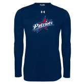 Under Armour Navy Long Sleeve Tech Tee-Patriots Star