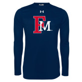 Under Armour Navy Long Sleeve Tech Tee-Interlocking FM