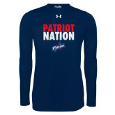 Under Armour Navy Long Sleeve Tech Tee-Patriot Nation