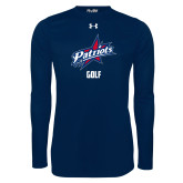 Under Armour Navy Long Sleeve Tech Tee-Golf