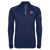 Under Armour Navy Tech 1/4 Zip Performance Shirt-Interlocking FM