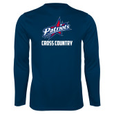 Performance Navy Longsleeve Shirt-Cross Country