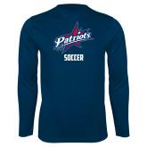 Syntrel Performance Navy Longsleeve Shirt-Soccer