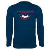 Syntrel Performance Navy Longsleeve Shirt-Golf With Stars