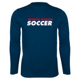 Syntrel Performance Navy Longsleeve Shirt-Soccer Stacked