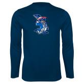 Performance Navy Longsleeve Shirt-The Patriot
