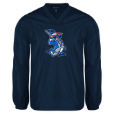 V Neck Navy Raglan Windshirt-The Patriot