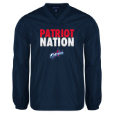 V Neck Navy Raglan Windshirt-Patriot Nation