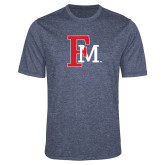 Performance Navy Heather Contender Tee-Interlocking FM