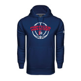 Under Armour Navy Performance Sweats Team Hoodie-Basketball Arched FM