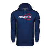 Under Armour Navy Performance Sweats Team Hoodie-Baseball on Right
