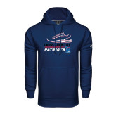 Under Armour Navy Performance Sweats Team Hoodie-Cross Country Shoe
