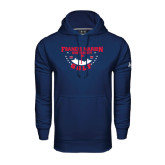 Under Armour Navy Performance Sweats Team Hoodie-Golf With Stars