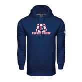 Under Armour Navy Performance Sweats Team Hoodie-Soccer Geometric Ball FM