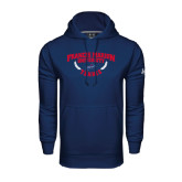 Under Armour Navy Performance Sweats Team Hoodie-Tennis Branch