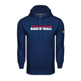 Under Armour Navy Performance Sweats Team Hoodie-Basketball Stacked