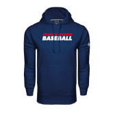 Under Armour Navy Performance Sweats Team Hoodie-Baseball Stacked