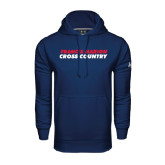 Under Armour Navy Performance Sweats Team Hoodie-Cross Country Stacked