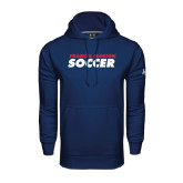 Under Armour Navy Performance Sweats Team Hoodie-Soccer Stacked