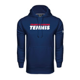 Under Armour Navy Performance Sweats Team Hoodie-Tennis Stacked