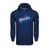 Under Armour Navy Performance Sweats Team Hoodie-Patriots Star