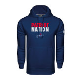 Under Armour Navy Performance Sweats Team Hoodie-Patriot Nation