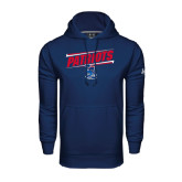 Under Armour Navy Performance Sweats Team Hoodie-Patriots Slant