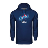 Under Armour Navy Performance Sweats Team Hoodie-Tennis