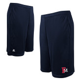 Russell Performance Navy 9 Inch Short w/Pockets-Interlocking FM