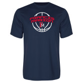 Performance Navy Tee-Basketball Arched FM