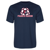 Performance Navy Tee-Soccer Geometric Ball FM