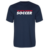Performance Navy Tee-Soccer Stacked