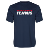Performance Navy Tee-Tennis Stacked