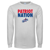 White Long Sleeve T Shirt-Patriot Nation