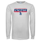 White Long Sleeve T Shirt-Patriots Inline