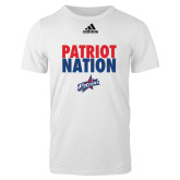 Adidas White Logo T Shirt-Patriot Nation