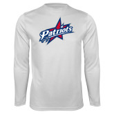 Syntrel Performance White Longsleeve Shirt-Patriots Star