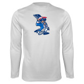 Performance White Longsleeve Shirt-The Patriot