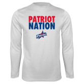 Performance White Longsleeve Shirt-Patriot Nation