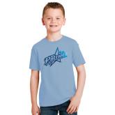 Youth Light Blue T Shirt-Patriots Star Foil